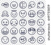 expression icons set. set of 25 ... | Shutterstock .eps vector #649755859
