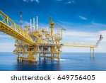 offshore oil and gas central... | Shutterstock . vector #649756405