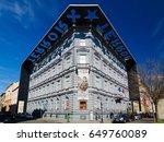budapest  hungary   february 22 ... | Shutterstock . vector #649760089