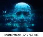 digital human hacker represent  ... | Shutterstock . vector #649761481