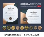 certificate template with... | Shutterstock .eps vector #649762225
