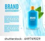 mouth rinse ads. refreshing... | Shutterstock .eps vector #649769029