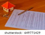 mortgage contract for sale of...   Shutterstock . vector #649771429
