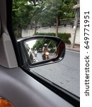 car side view mirror with...   Shutterstock . vector #649771951