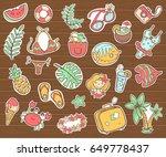 vector cute doodle collection...   Shutterstock .eps vector #649778437