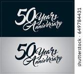 50 years anniversary... | Shutterstock .eps vector #649784431