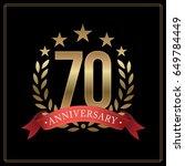 70 years golden anniversary...   Shutterstock .eps vector #649784449