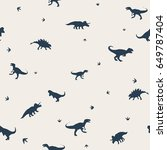 seamless pattern with  dinosaurs | Shutterstock .eps vector #649787404