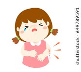crying girl with wounds from... | Shutterstock .eps vector #649789591