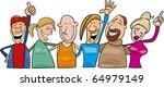 cartoon illustration of group... | Shutterstock . vector #64979149