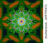 motley seamless pattern. vector ... | Shutterstock .eps vector #649795471