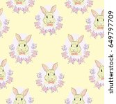 rabbit  pattern  vector ... | Shutterstock .eps vector #649797709