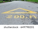Small photo of road distance sign.