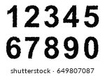set of grunge numbers.vector... | Shutterstock .eps vector #649807087