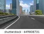 empty asphalt road front of... | Shutterstock . vector #649808731