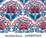 seamless pattern with fantasy... | Shutterstock .eps vector #649809364