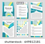 abstract vector layout... | Shutterstock .eps vector #649812181