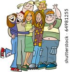 illustration of school teens... | Shutterstock . vector #64981255
