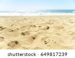 close up of sand on the beach | Shutterstock . vector #649817239