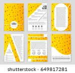 abstract vector layout... | Shutterstock .eps vector #649817281