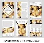 abstract vector layout... | Shutterstock .eps vector #649820161