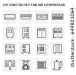 vector icon of air conditioner... | Shutterstock .eps vector #649821064