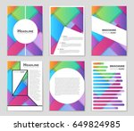 abstract vector layout... | Shutterstock .eps vector #649824985