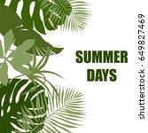 side border  plain green... | Shutterstock .eps vector #649827469