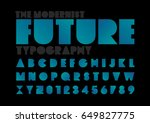 vector of modern futuristic... | Shutterstock .eps vector #649827775