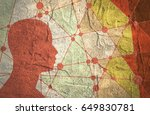 silhouette of a man's head.... | Shutterstock . vector #649830781