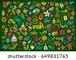 colorful vector hand drawn... | Shutterstock .eps vector #649831765