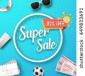 illustration of super sale... | Shutterstock .eps vector #649833691