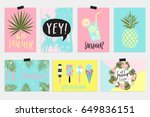 summer june greeting cards and... | Shutterstock .eps vector #649836151