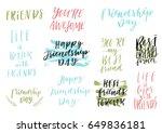 happy friendship day vector... | Shutterstock .eps vector #649836181