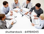 image of company of successful... | Shutterstock . vector #64984045