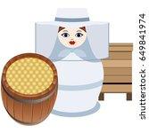 russian nesting dolls beekeeper ...   Shutterstock .eps vector #649841974