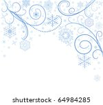 White Card With Blue Snowflakes