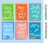 set of  motivation and... | Shutterstock .eps vector #649843591