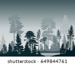 illustration with fir trees... | Shutterstock .eps vector #649844761