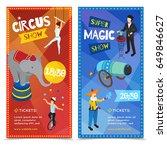 circus vertical isometric... | Shutterstock .eps vector #649846627