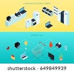 shopping mall two horizontal... | Shutterstock .eps vector #649849939