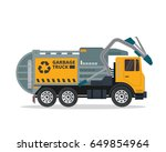 modern flat isolated garbage... | Shutterstock .eps vector #649854964