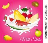 splash of milk  caused by... | Shutterstock .eps vector #649858201