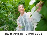 confident researcher picking... | Shutterstock . vector #649861801