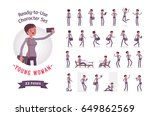ready to use character set.... | Shutterstock .eps vector #649862569