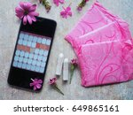 woman hygiene protection during ...   Shutterstock . vector #649865161