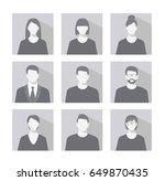 avatar profile picture icon set ... | Shutterstock . vector #649870435