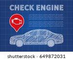 check engine vector... | Shutterstock .eps vector #649872031