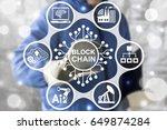 blockchain industrial strategy... | Shutterstock . vector #649874284