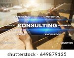 consulting business concept.... | Shutterstock . vector #649879135